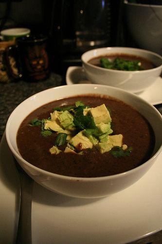 Crock pot black bean soup...I love Panera's black bean soup, hopefully ...