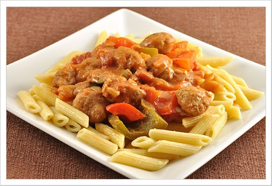 Sausage and Peppers with Creamy Tomato Sauce