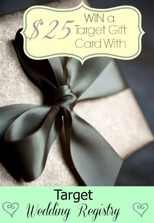Target Gift Card Wedding Registry : 25 Target Gift Card ends 2.28.14 Sponsored.