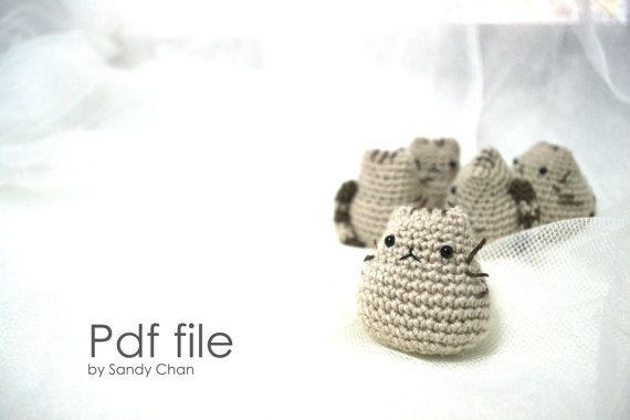 Pusheen Knitting Pattern : Amigurumi Pusheen PATTERN