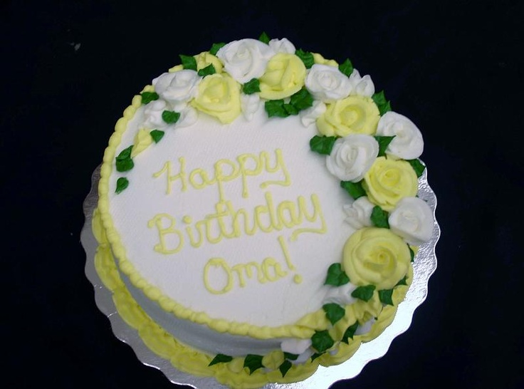 Cake With Roses Pinterest : yellow roses cake.jpg