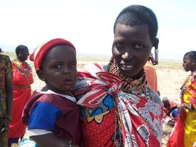 A Maasai woman, Agnes with her daughter Sarah