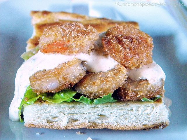 Shrimp Po' Boy with Remoulade by ~CinnamonGirl, via Flickr