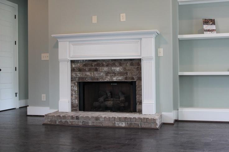 Half Brick Fireplace Surround With Raised Hearth