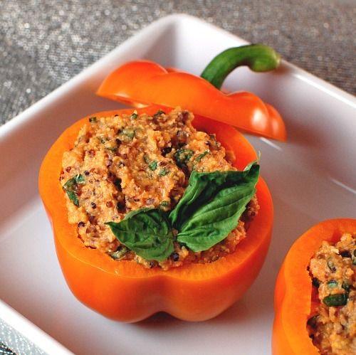 pizza polenta stuffed peppers | Cherrys World of Food | Pinterest