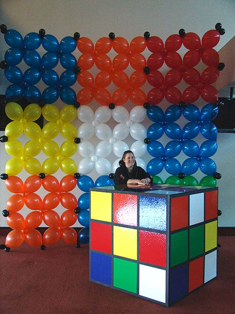 Rubix cube bar whoa 80s themed 35th pinterest for 80 s table decoration ideas