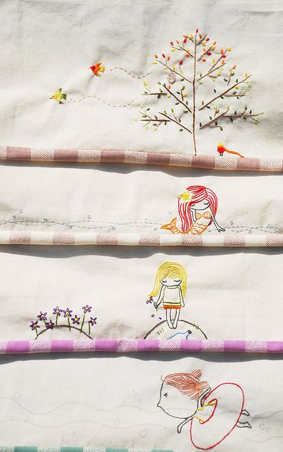 Cute Embroidered Edges