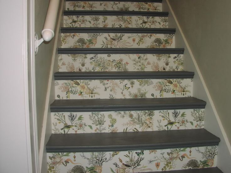 Pin by debbie allen on what to do with stairs pinterest - Stair riser decoration ideas ...