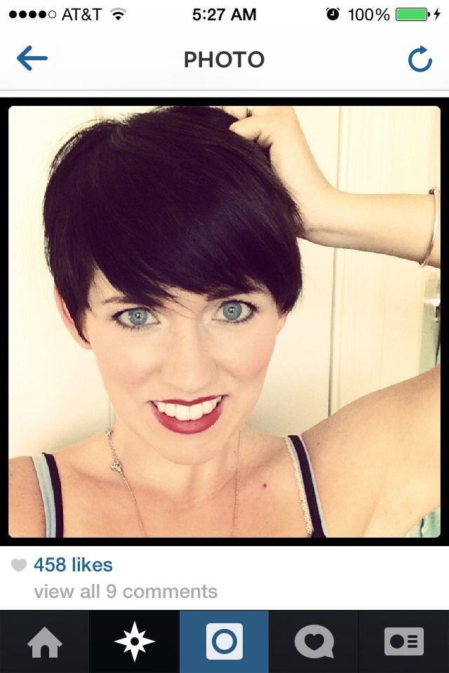 Short brunette pixie | Hairstyles for Short Hair | Pinterest