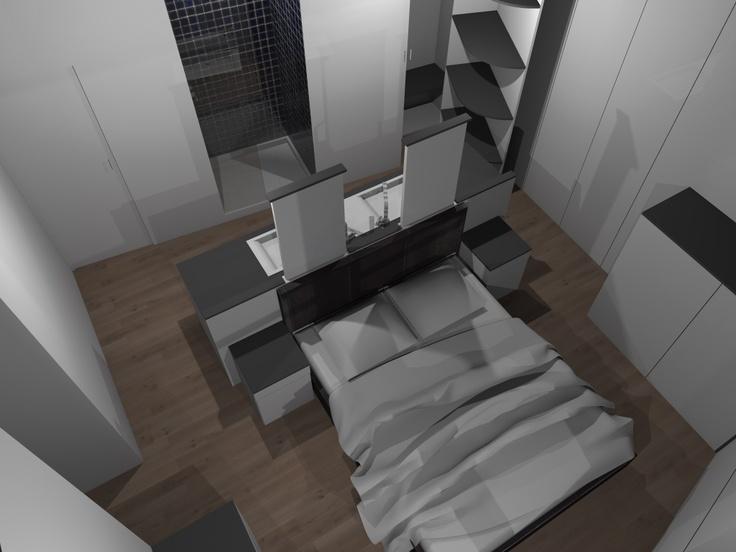 chambre de taille moyenne, une suite avec WC, salle de bain, dressing ...
