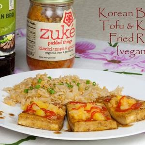 Easy Korean BBQ Tofu and Kimchi Fried Rice   food