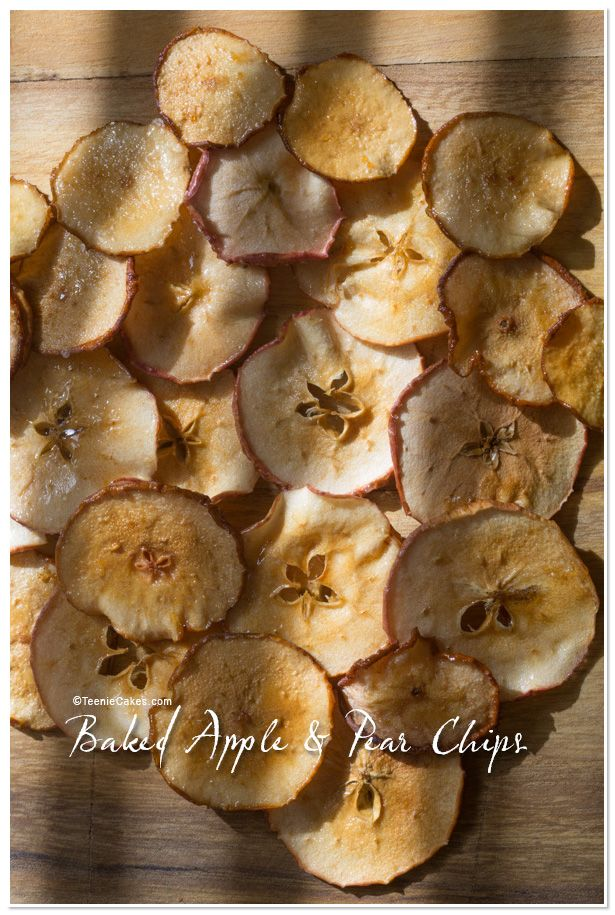 Baked Apple Chips and Pear Chips recipe | TeenieCakes.com # ...