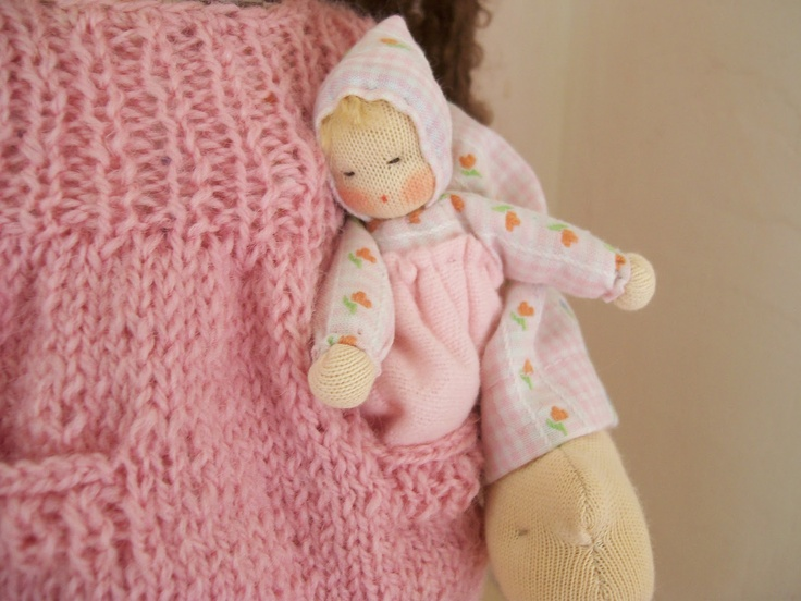 Beautiful small baby doll by Poppenatelier Ineke Gray
