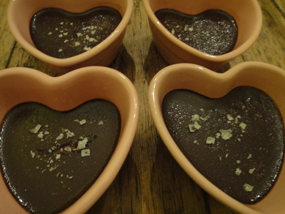 ... Chocolate Pot De Creme: 7 Ingredients with optional Fleur de sel