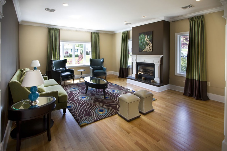 Peacock Living Room Designed By Vda For The Home Pinterest