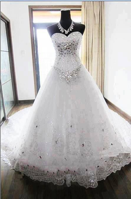 Show Stopper Blinged Out Wedding Dress Wedding Gowns