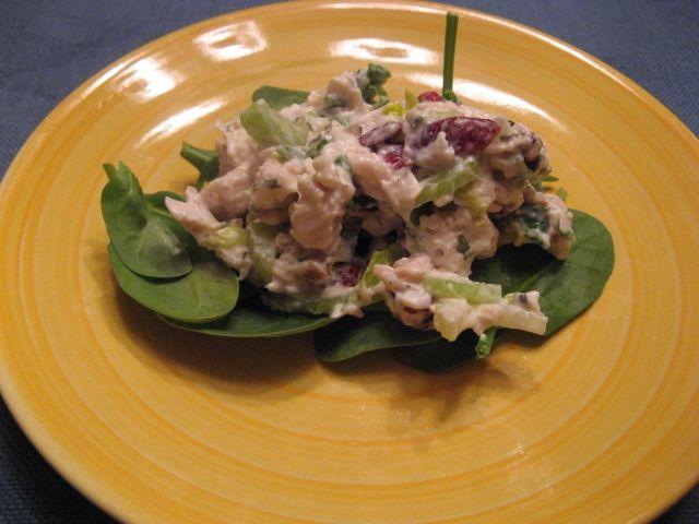 One chicken, three meals. Meal two: Cranberry-Walnut Chicken Salad