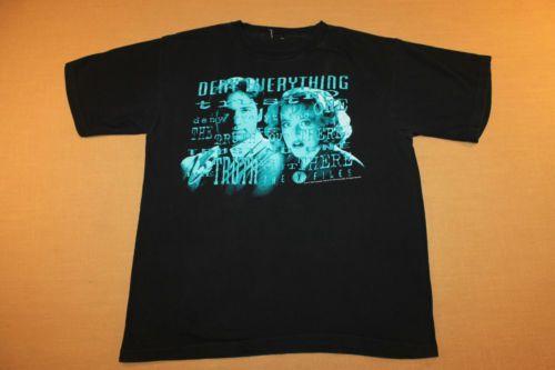 XL Vtg 90s 1995 The x Files Deny Everything T Shirt 28 58   eBayX Files Deny Everything