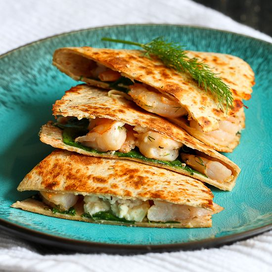 Lemon Dill Shrimp Quesadilla | Recipe