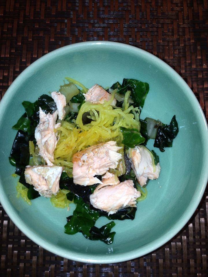 is served! Try this recipe: spaghetti squash, sautéed Swiss chard ...