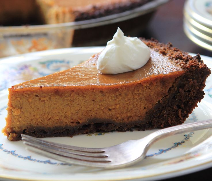 Bourbon Pumpkin Pie — Just the right amount of bourbon adds lovely ...