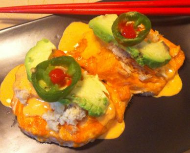 BAKED SALMON & CRAB SRIRACHA 1/2 the cost of baked salmon sushi, this ...