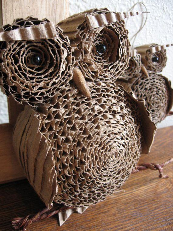 Cardboard Owls