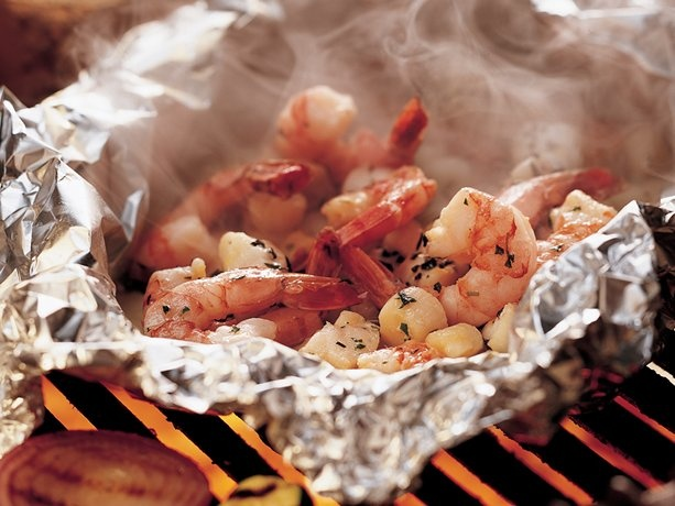 Grilled Herbed Seafood Packs | Recipe