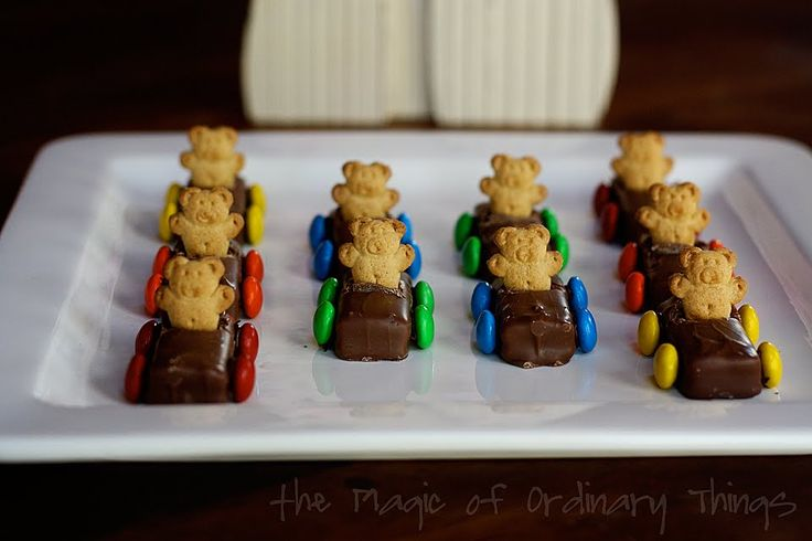 Teddy Graham Race Cars from The Magic of Ordinary Things