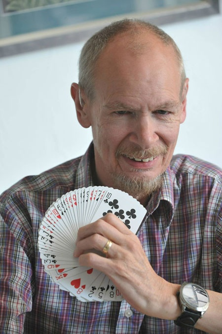 Despite being registered blind, Richard is a brilliant magician, sings in a band – and, at 62, has just taken up Aikido