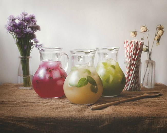 hibiscus amp thyme peach iced tea with ginger amp basil honeydew agua ...