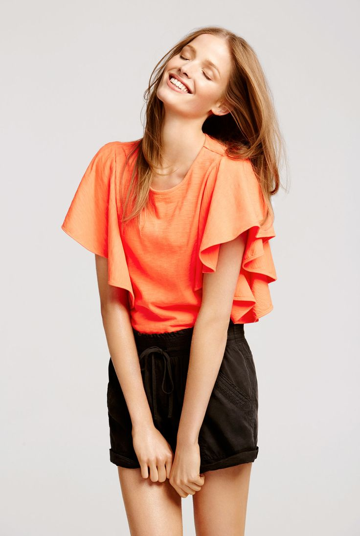 Frill sleeve t shirt for Frill sleeve t shirt