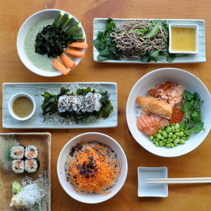 shiso cress Midmorning Snack: brown rice salmon sushi roll Lunch: soba ...