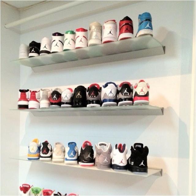 My Jordan Shoe Rack Jays Pinterest