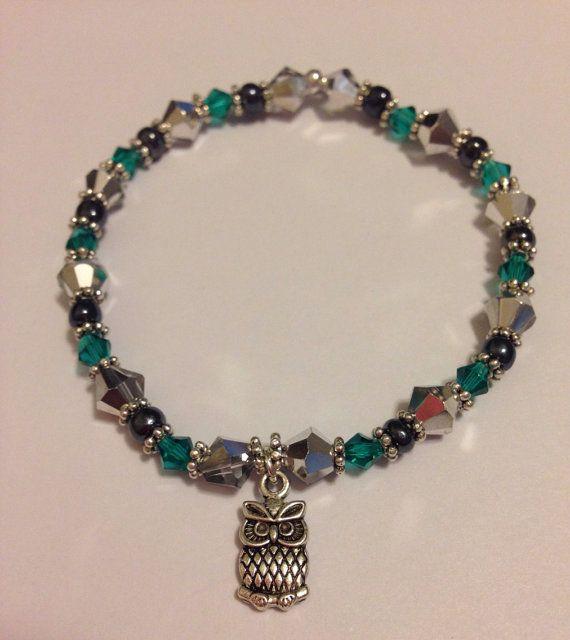 owl charm bracelet on etsy 6 00 enericharms