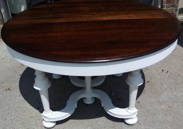 Repurposed antique 54 round dining table there is for Repurposed dining table