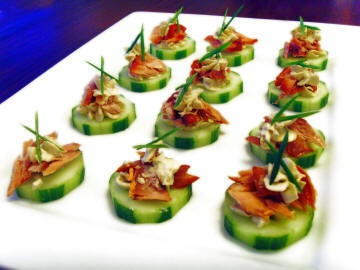 Smoked Salmon Canapé | Smoked Salmon (Not necessarily ours) | Pintere ...