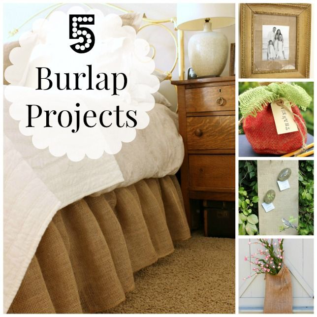 5 simple burlap projects crafts and more pinterest for Crafts to make with burlap