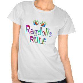 Ragdolls Rule RainBow TShirtSeal Pointed Ragdoll Cat Tshirts - Click