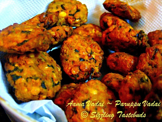 Aama Vadai~Spiced lentil fritters | Indian Savouries | Pinterest