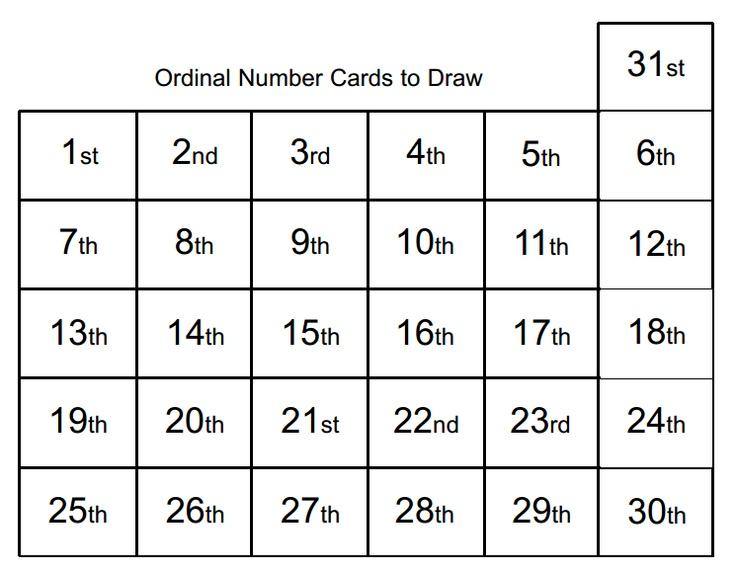 736 x 572 jpeg 94kB, Ordinal number bingo cards: 13 cards. If you need ...