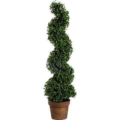 "36"" Artificial Boxwood Spiral Topiary Tree - 58147"