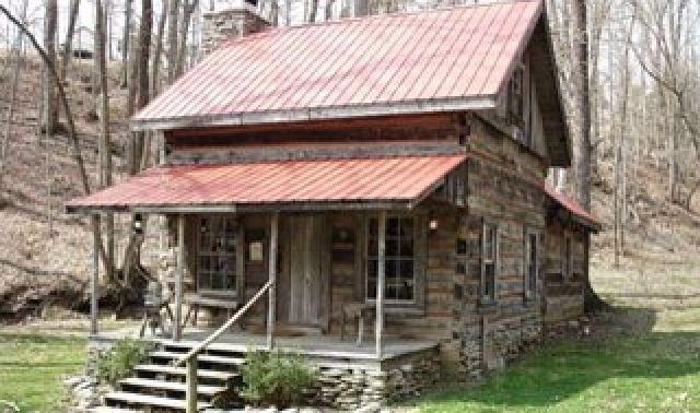 Old Log Cabin Cabins Pinterest