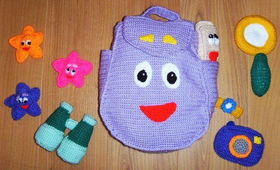 BACKPACK Crochet Pattern PDF Crochet-Backpack for kids Pinterest