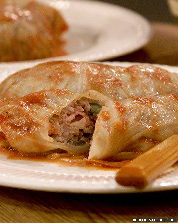 Stuffed Cabbage by Martha Stewart || Serve with hot tomato sauce and ...