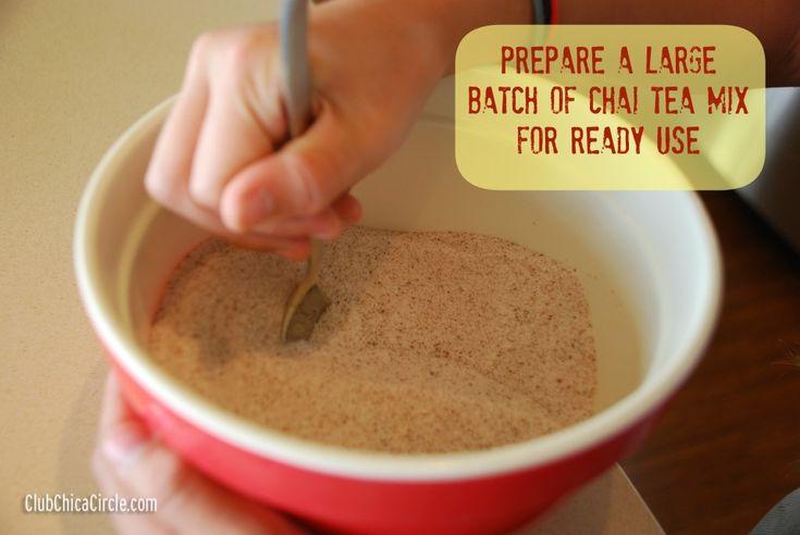 Make Ahead Chai Tea Mix | Food! Nom nom nom | Pinterest