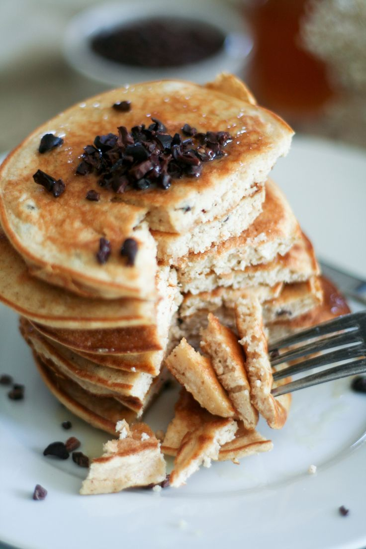Coconut and Cacao Nibs Pancake Tower   Recipe