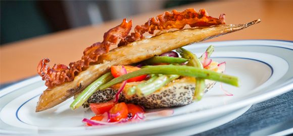 Warm Mackerel Salad on Toast with Mustard Dressing from Fish is the ...