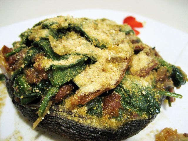 Stuffed Portobello Mushrooms | I Would Eat That! | Pinterest