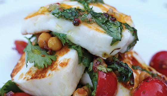 ... Warm Chickpea Salsa & Udo's Oil, Coriander and Garlic Dressing